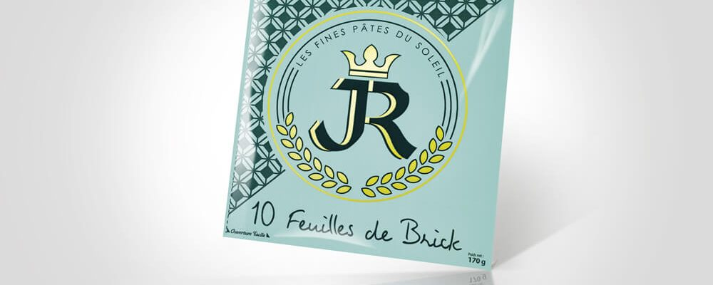 Feuille de brick carrée JR