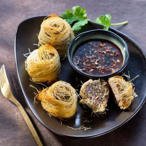 Recipe of kadaif dumpling asian style duck