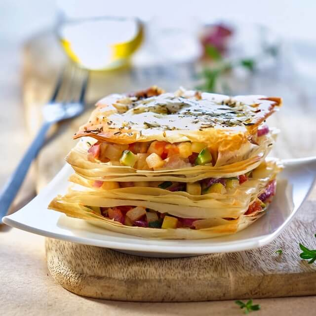 Mille-feuille With A Vegetable Medley